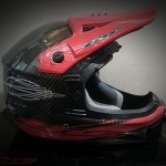 dh helmet red